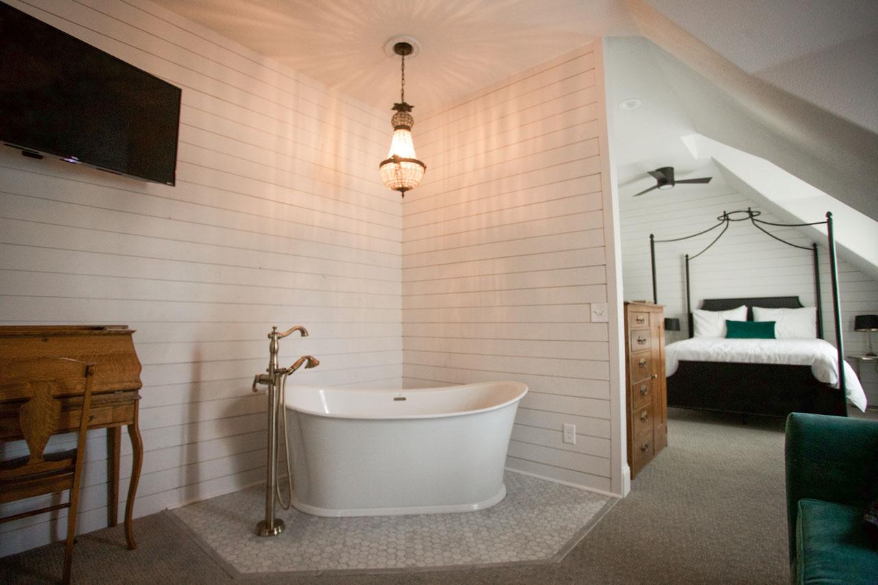Beautiful hotel bathtub at bed & breakfast
