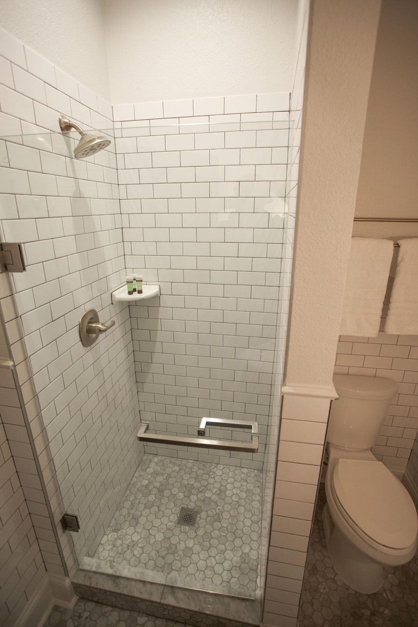 Aspen room bathroom and standing shower