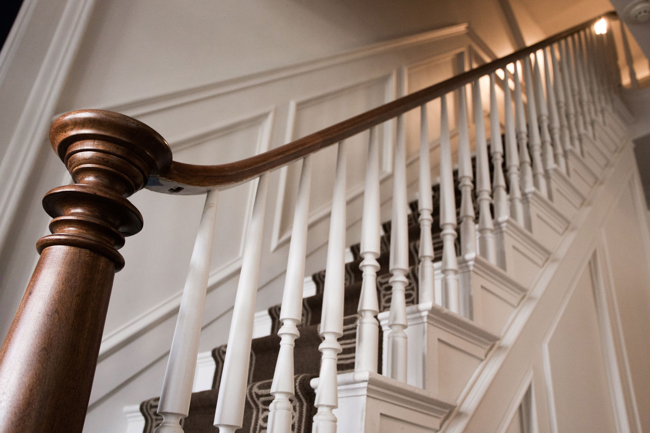 staircase with design details