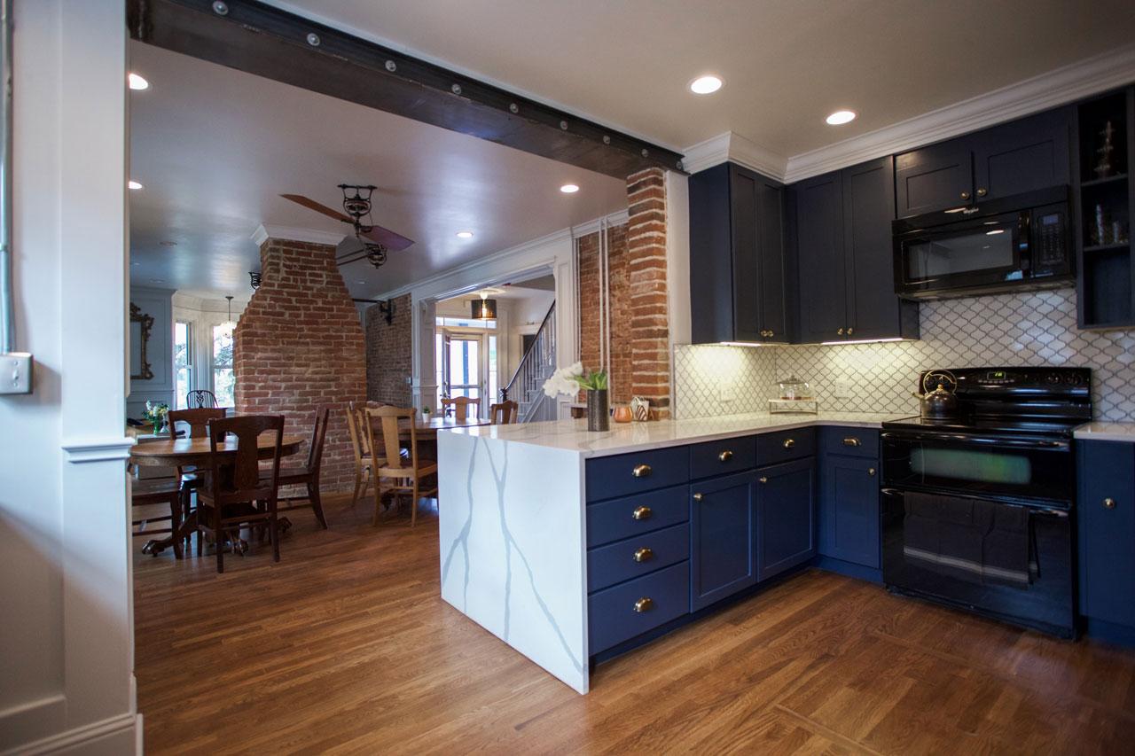 Common kitchen of the Dove Inn B&B