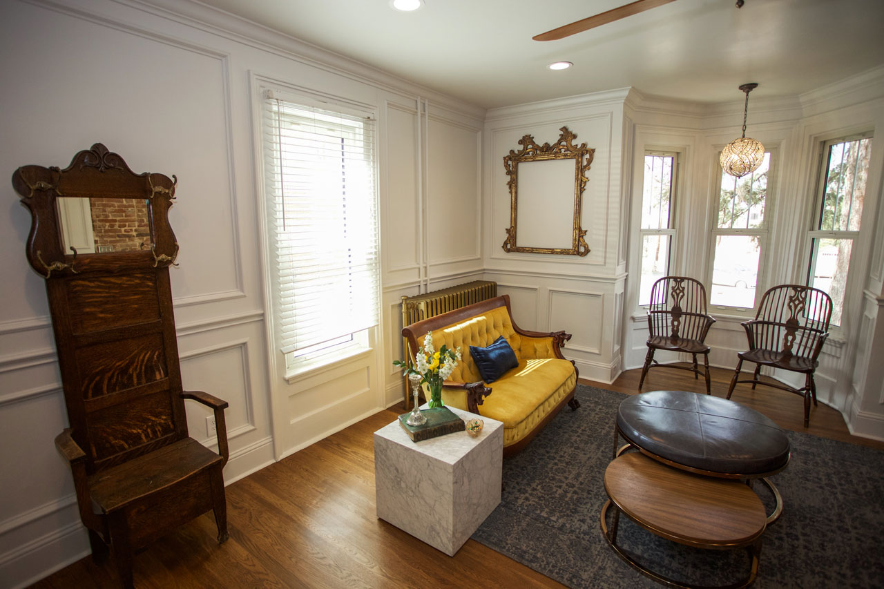 Living area of the Dove Inn